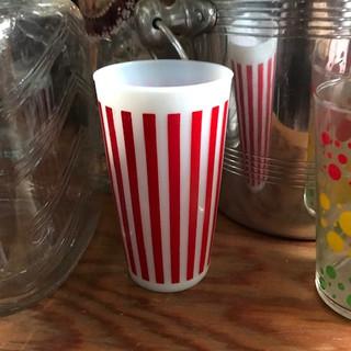 Striped glassware