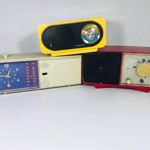 RCA (left) Realistic (middle) Atomic Radio (right)
