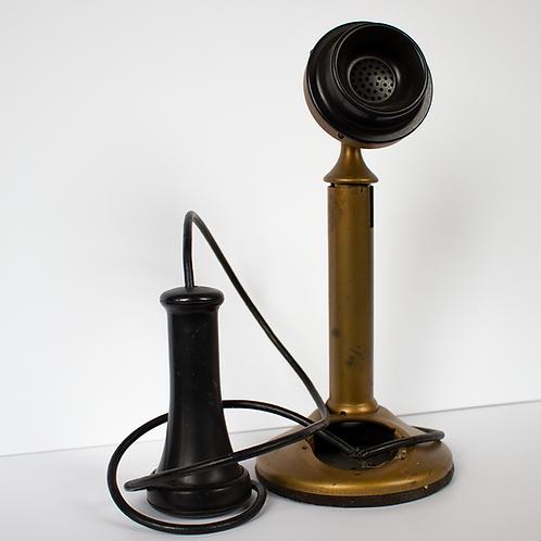 Brass Candlestick Telephone 1900s