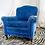 Thumbnail: Blue Velvet Armchair