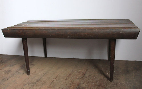 Retro Coffee Table with Slatted Wood Top