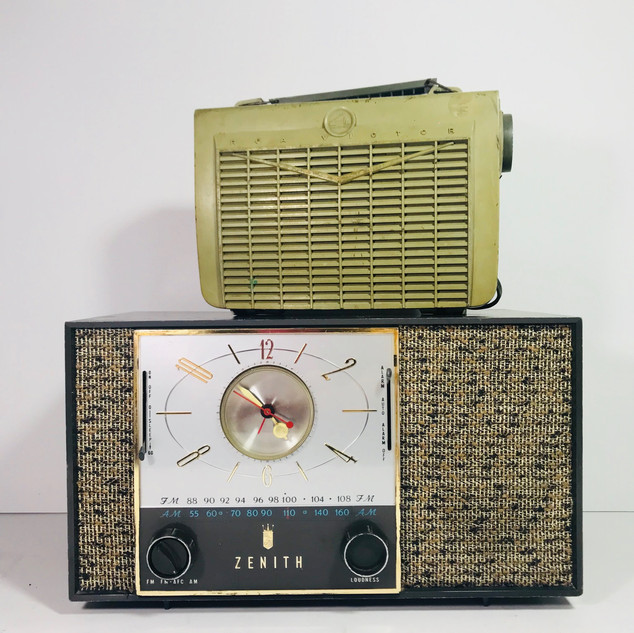 RCA (top) Zenith (bottom) Radio