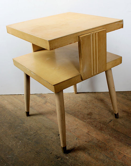 Two Tier Wood Side Table
