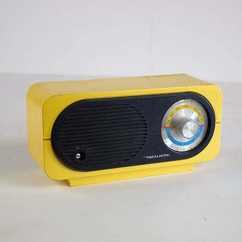 Yellow Realistic Radio 1960s