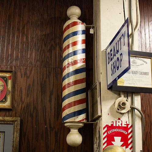 Wall Mounted Barber Pole
