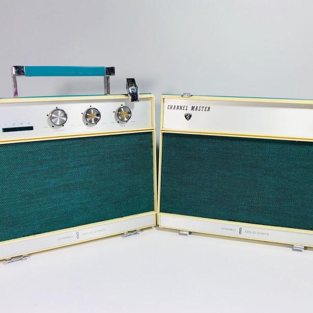Channel Master Radio and speaker set