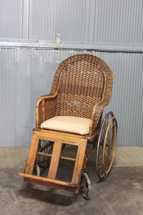 Wicker Woven Antique Wheel Chair