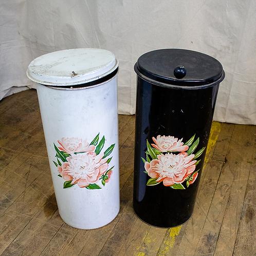Floral Cylinder Waste Bins