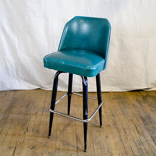 Teal Bar Stool with back