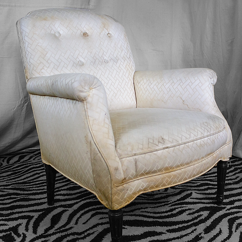 White Cream Discolored Chair