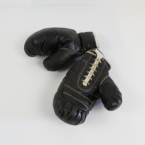 Black Lace Up Boxing Gloves