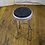 Thumbnail: Silver Metal Stool with Black Seat