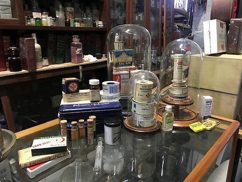 Pharmacy Bandages and Apothecary Glass Domes