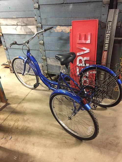 Blue Three-Wheeler Bike