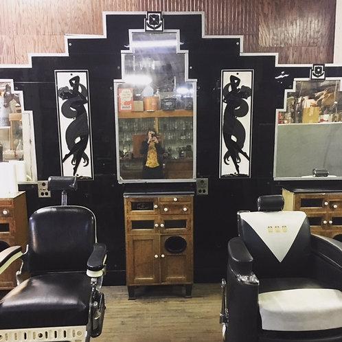 Art Deco Barber Shop Backsplash