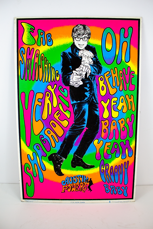 Austin Powers Psychedelic Poster