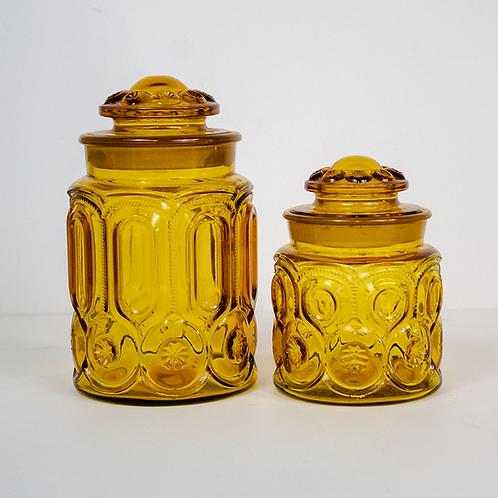 Honey Amber Glass Jars