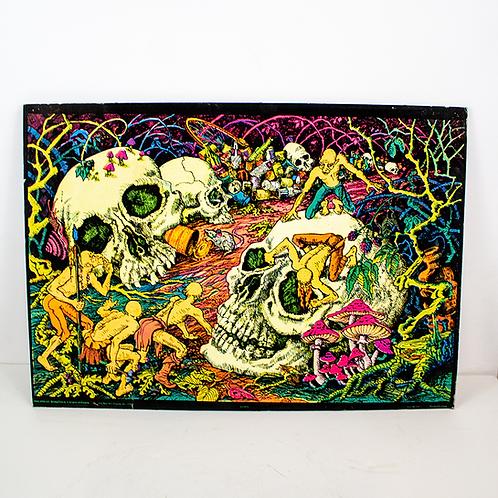 Skulls Psychedelic Poster