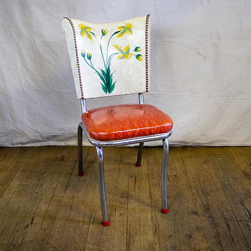 Floral Back Diner Chair