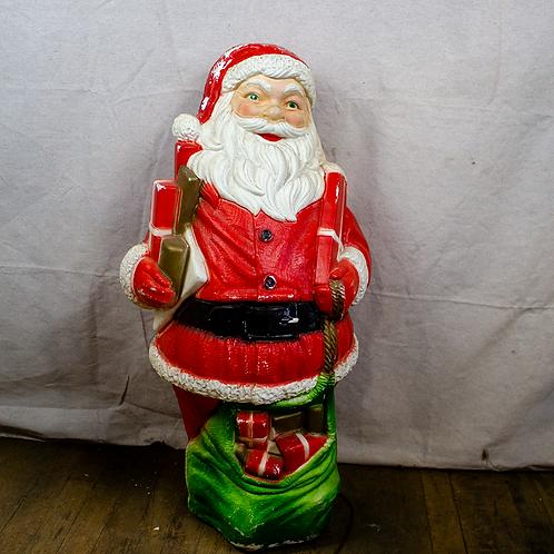 Blow Mold Plastic Santa