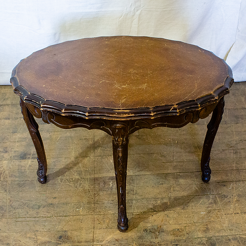 Scalloped Wooden Side Table