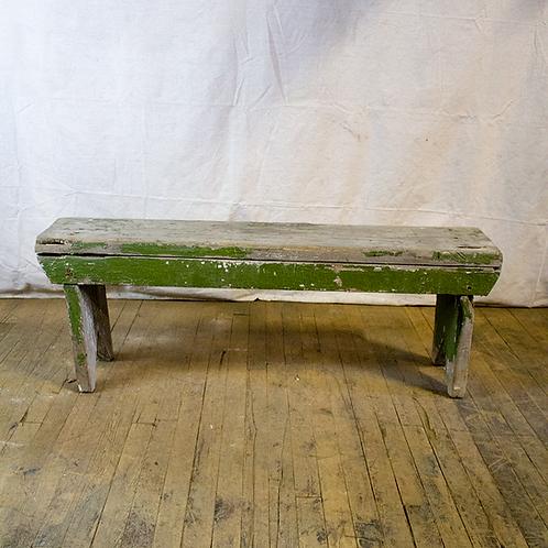 Rustic 4ft Green Grey Bench