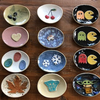Ceramic Soap Dish - Handmade Locally - Assorted Styles