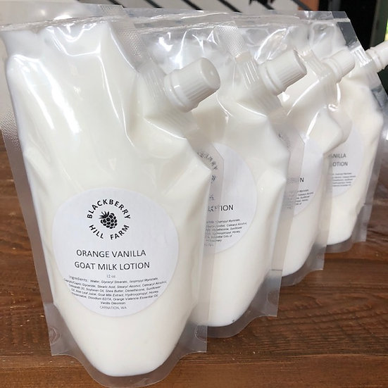 Goat Milk Lotion Refill  12 oz. - Assorted Scents
