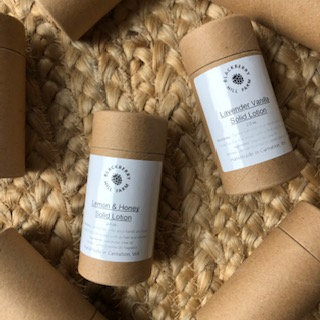 Solid Lotion Tubes - Eco Friendly Cardboard Packaging - Assorted Scents