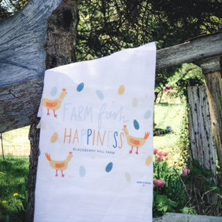 Flour Sack Towel -Chicken - Farm Fresh Happiness