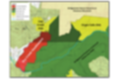 Dry Creek Headwaters Map, Mid-Cumberland Wilderness Conservation Corridor of Scott's Gulf, Tennessee