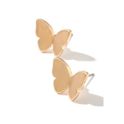 Butterfly Stud Earrings-Gold -2028