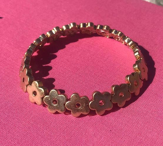 Gold Flower Bracelet - 4000