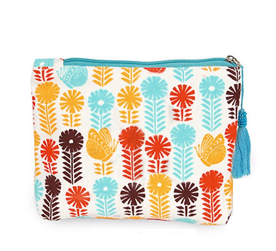 Flower & Butterfly Pouch/Cosmetic Bag -1011