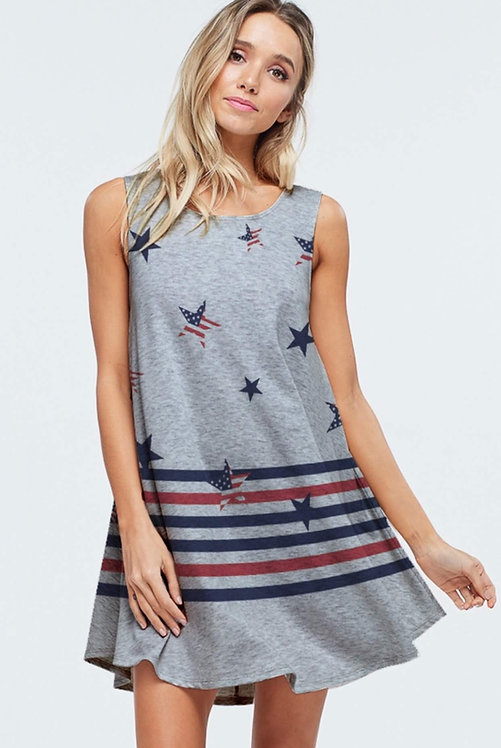 Stars & Stripes Swing Dress/Tunic 7001