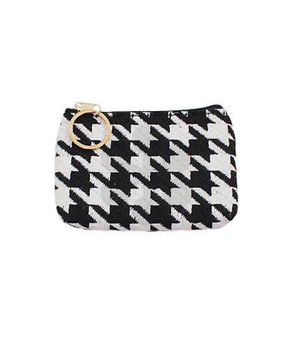 Houndstooth Coin Purse -1009