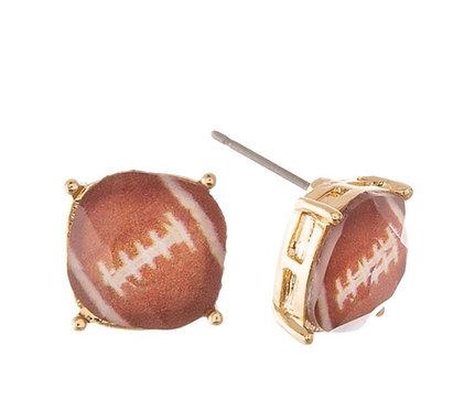 Football Stud Earrings - 2129