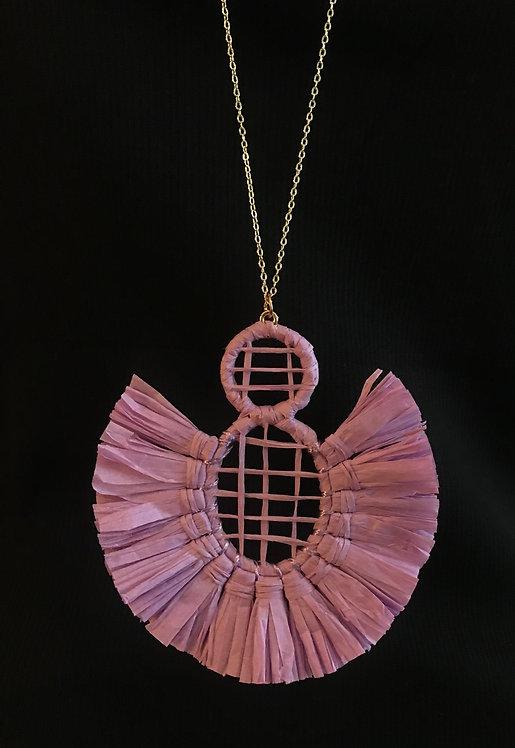Lavender Fan Necklace - 3047