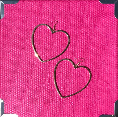 Huge Heart Earrings -2031