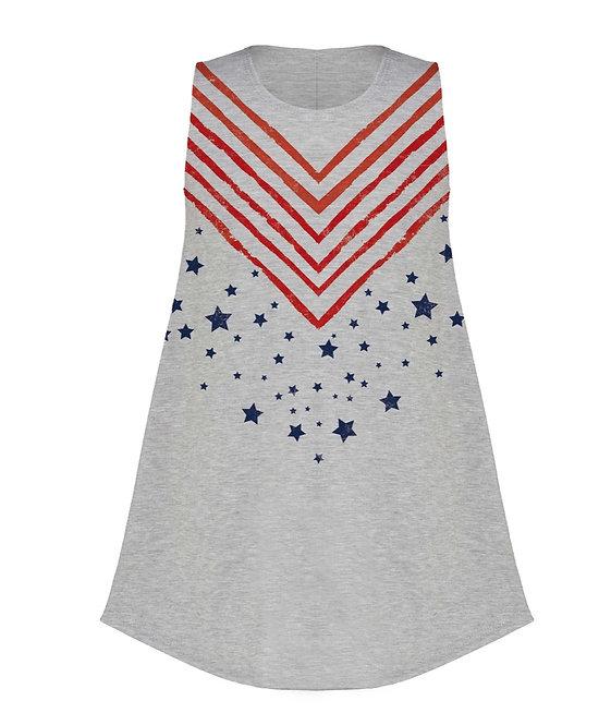 Girls Stars & Chevron Dress/Tunic- 5003