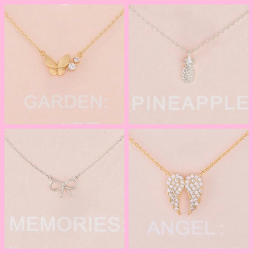 """Dainty 16"""" Necklace- 4 choices -3067"""