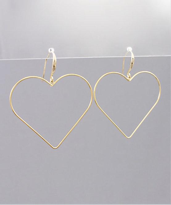 Heart Drop Earrings -2077