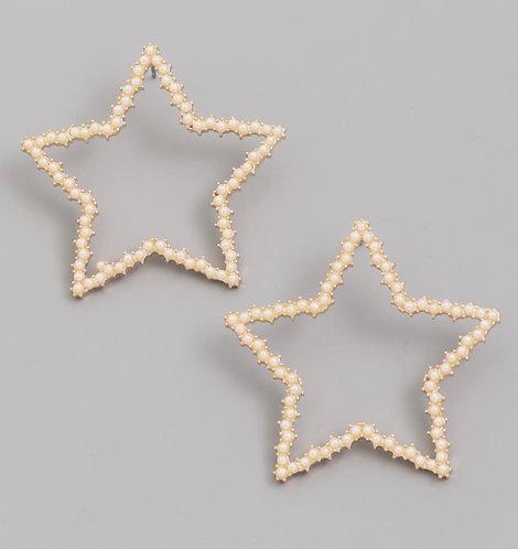 Encrusted Star Earrings -2080