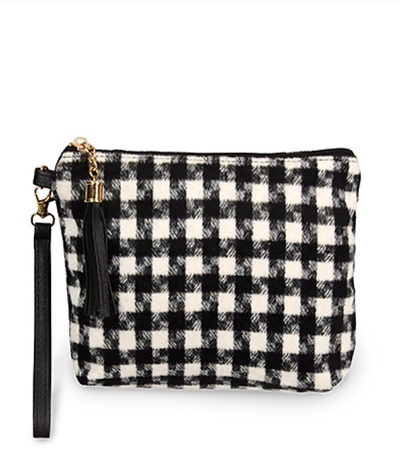 Houndstooth Pattern Pouch -1010