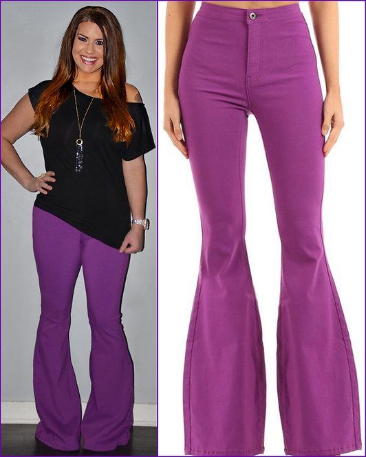 Purple Bell Bottom Jeans - 9060