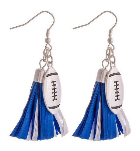 Football & Tassel Earrings - 2130