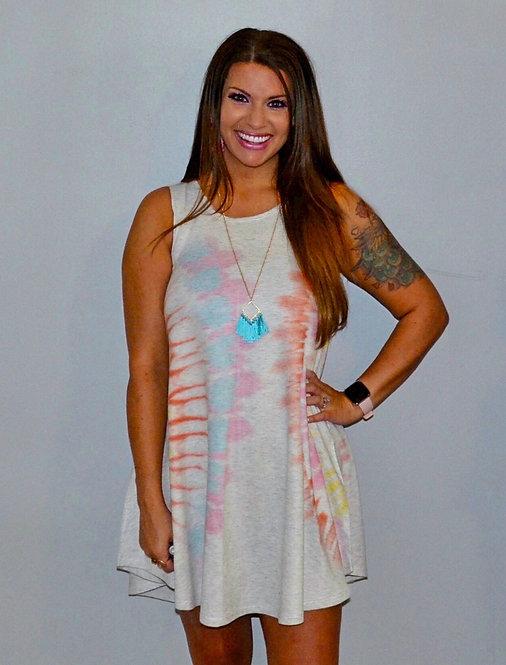 Tie Dye Swing Dress/Tunic 7004