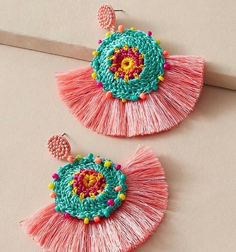 Tassel Drop Earrings -2118