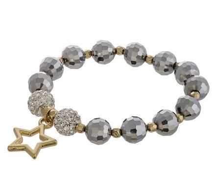 Hematite Stretch Bracelet - 4001