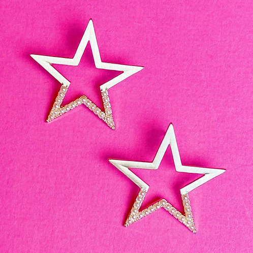 Pearl Studded Star Earrings -2020